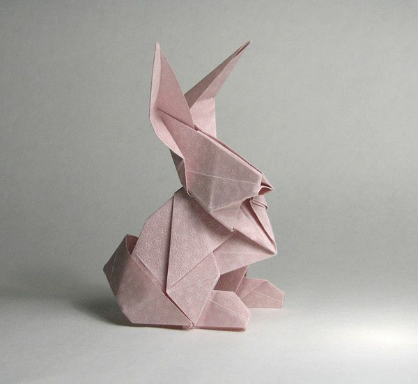 Origami bunny folding - instructions and inspirational easter decoration ideas
