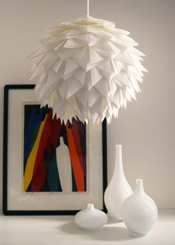 origami lampenschirm papier weiß lampen