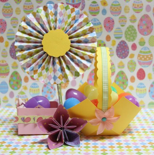 oster bastelideen papier dekoration frisch farbig