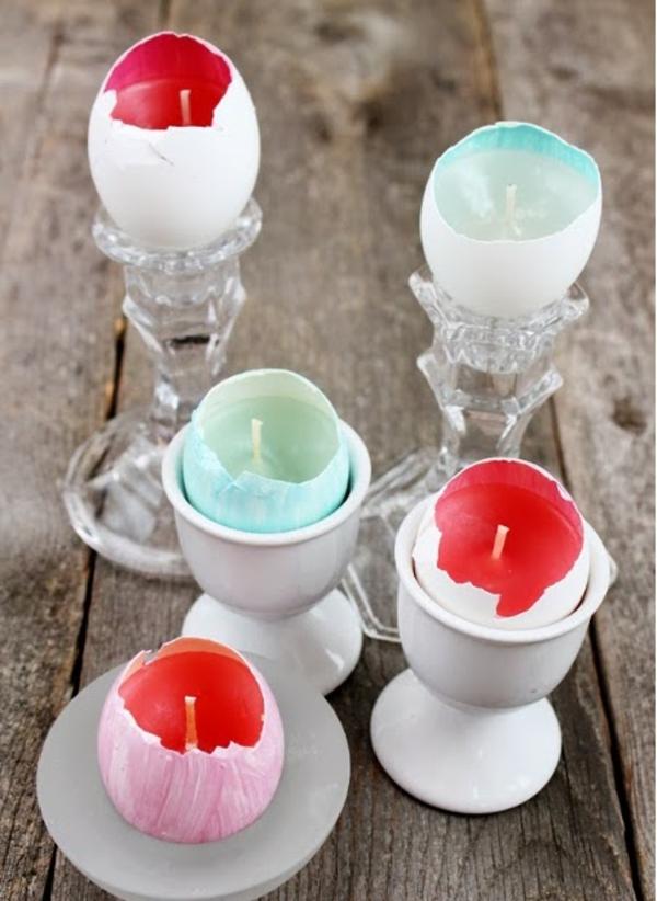 osterkerzen eierschale kerzenständer eierbecher