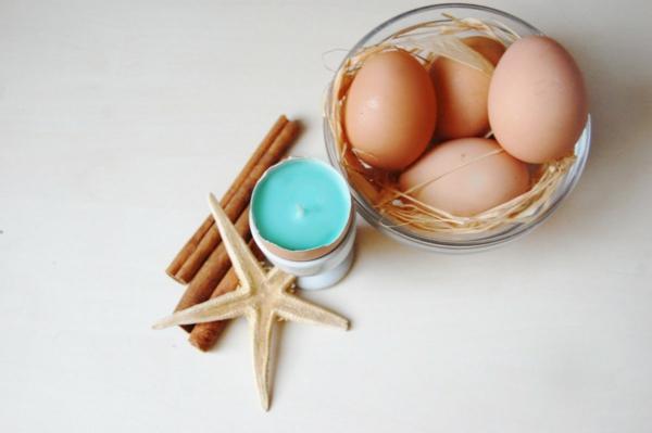 osterkerzen eierschale meeresthema