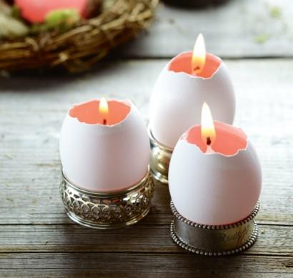 originelle diy osterkerzen aus eierschalen selber basteln. Black Bedroom Furniture Sets. Home Design Ideas