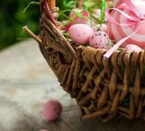 Osterkorb basteln und festlich arrangieren – 20 Osterdeko Ideen