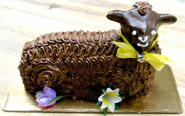 osterlamm rezept kuchen schokoladenglasur
