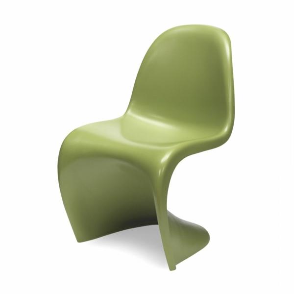 panton stuhl grün bequem innovativ