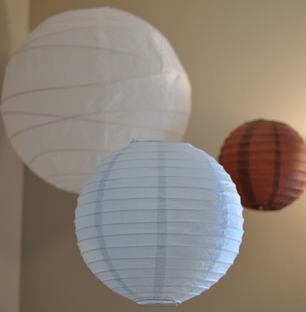papier lampenschirm babyzimmer beleuchten ideen
