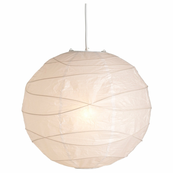 papier lampenschirm design sphäre pendellampe