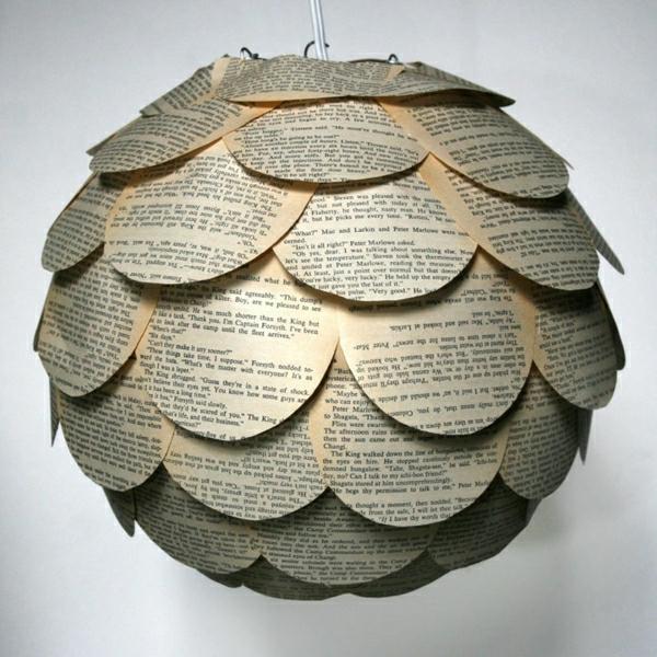 papier lampenschirm sphäre design lampen