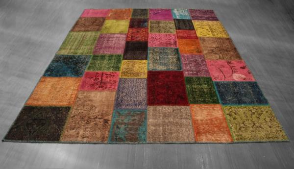 patchwork stoffe bunter teppich schöne wohnideen