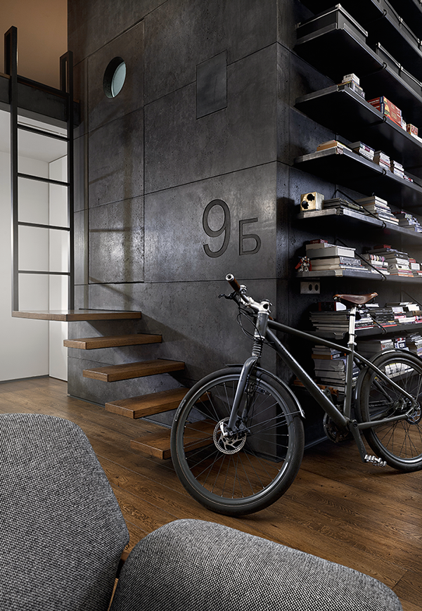 gro artige penthousewohnung im retro look in sofia bulgarien. Black Bedroom Furniture Sets. Home Design Ideas