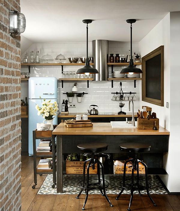 penthousewohnung sofia küche offene regale