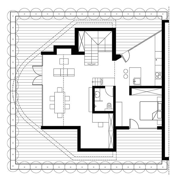 penthouse wohnung sofia skizze