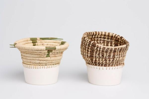 pflanztöpfe eneida tavares korbähnlich keramik