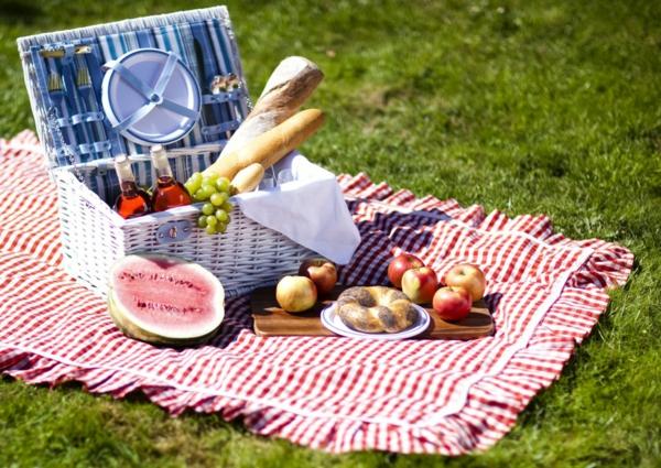 picknick decke muster fransen essen natur