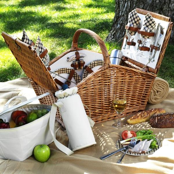 picknick decke picknickkorb ausflug freien