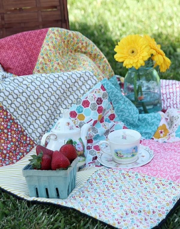 picknickdecke muster patchwork design
