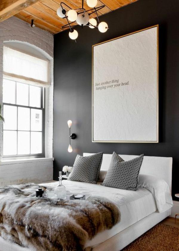 ... Wandfarbe schlafzimmer schwarzes bett ~ Schlafzimmer Wandfarbe Ideen