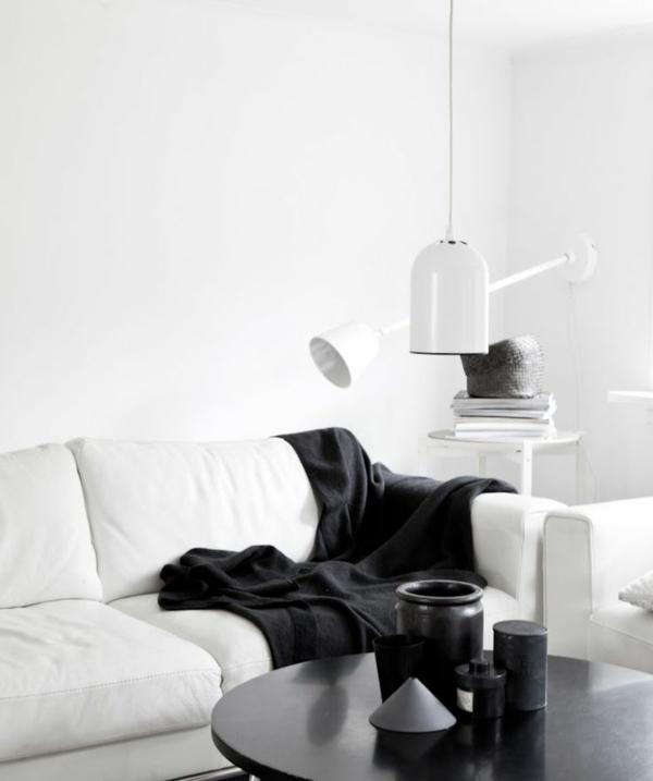 raumgestaltung ideen wandgestaltung mit farben wandfarbe weiß wohnzimmer sofa