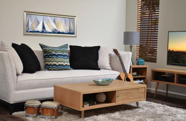 retro couchtisch beiges sofa wohnzimmer teppich