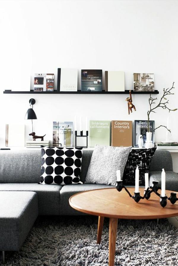 retro couchtisch wohnzimmer grauer teppich