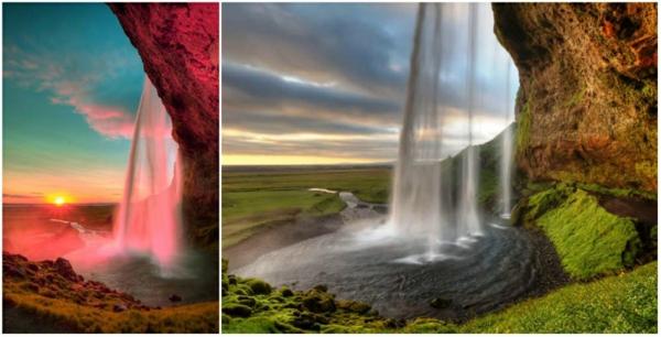romantik wochenende Seljalandsfoss Wasserfall