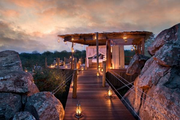 romantik wochenende lion sands terrasse