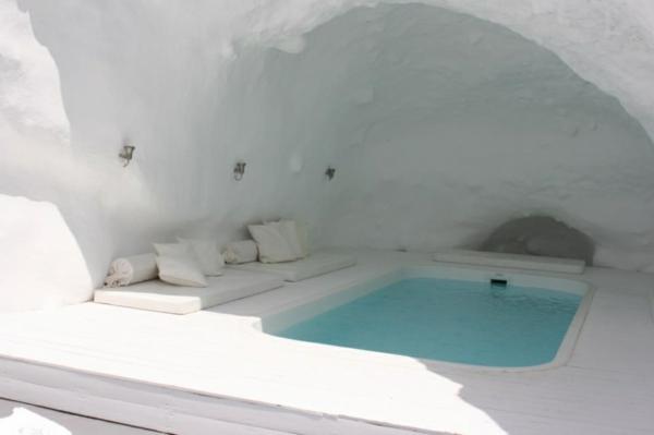 romantik wochenende santorin griechenland pool