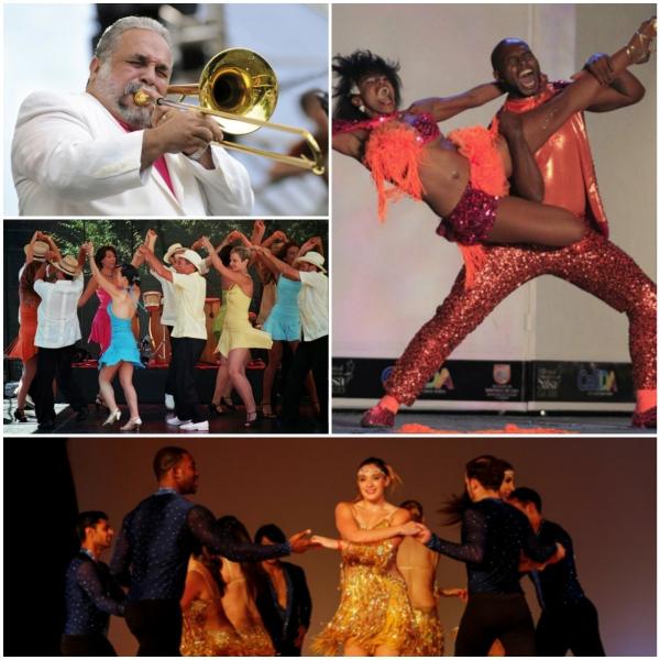 salsa musik hören tanzen collage