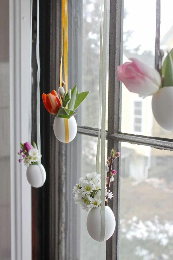 schöne dekoideen diy eierschalen frühlingsblumen