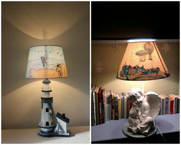 schöne dekoideen tischlampe toller lampenschirm