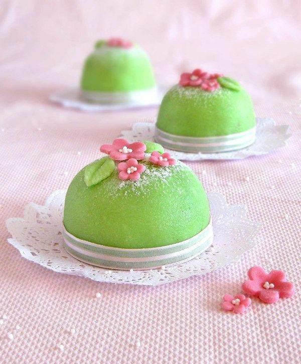 schöne mini kuchen grüne kuchen