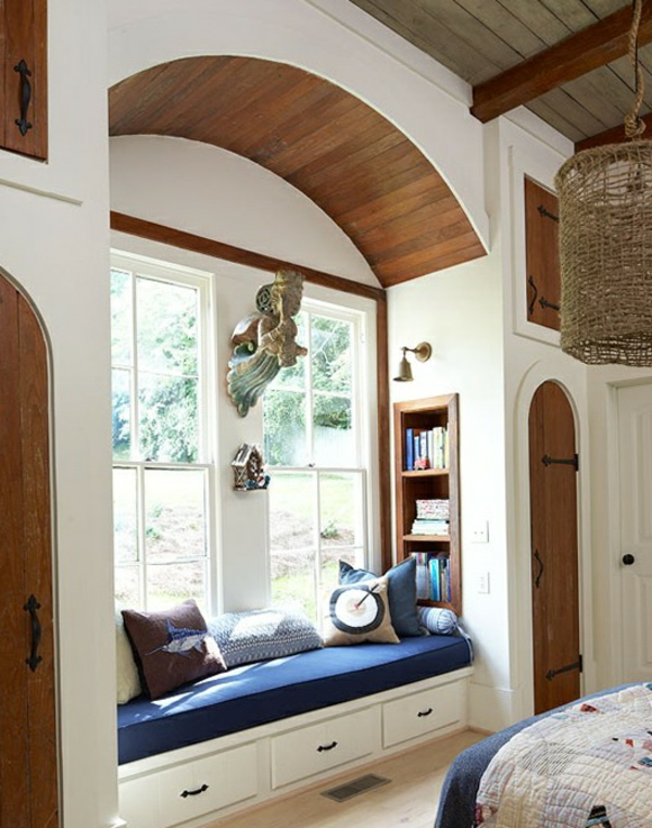 schöne wohnideen fensterbank erholungsecke sofa