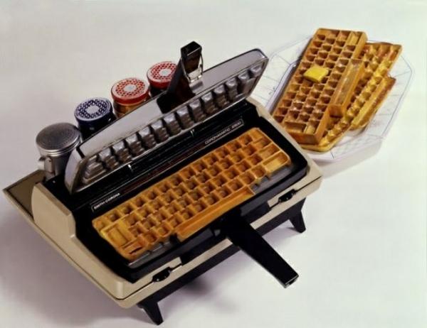 schöne wohnideen tastatur waffel design