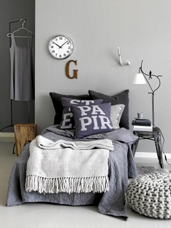 Schlafzimmer Design Kleiner Raum Graues Interieur Schlafzimmer Design Ideen,  Wie Sie Sich Im Schlaftzimmer Wohlfühlen | Einrichtungsideen ...