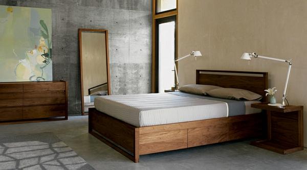 schlafzimmer nussbaum wandfarbe. Black Bedroom Furniture Sets. Home Design Ideas