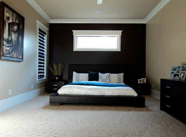 schlafzimmer asia schwarze möbel hochflor teppich