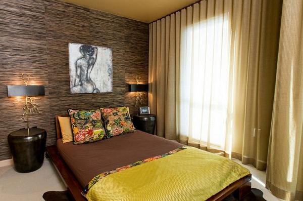 schlafzimmer einrichten asia stil bestickte kissen