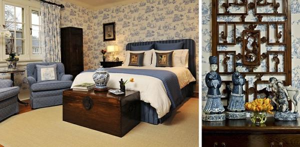 Hervorragend Schlafzimmer Einrichten Asia Toile De Jouy Tapeten