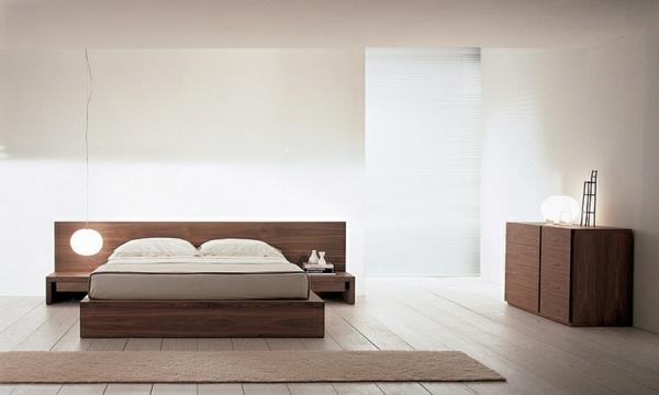 schlafzimmer einrichten asiatisch minimalistisch