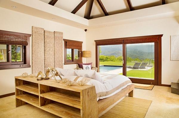 schlafzimmer einrichten asiatisch modern landhaus