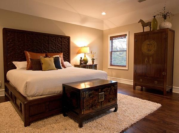schlafzimmer einrichten asiatische antike möbel
