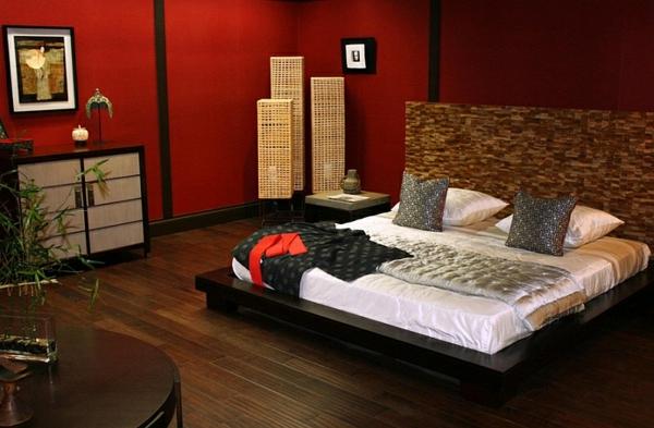 schlafzimmer einrichten geflochtene lampenschirme