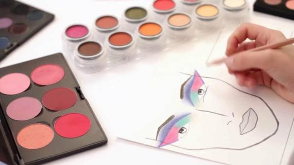schminktipps augen schminken farbige lidschatten