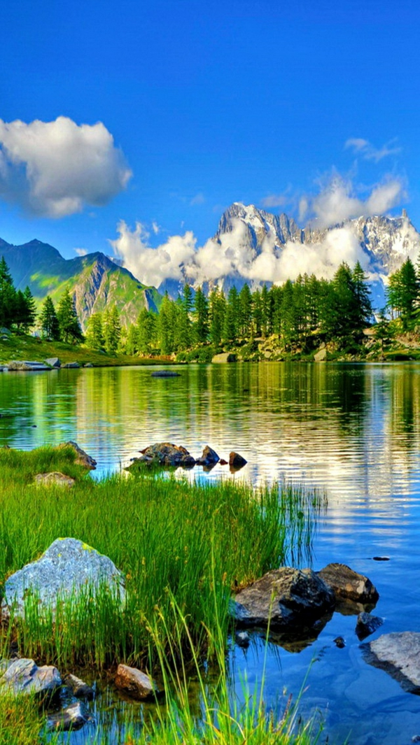 see im gebirge natur genießen sich entspannen
