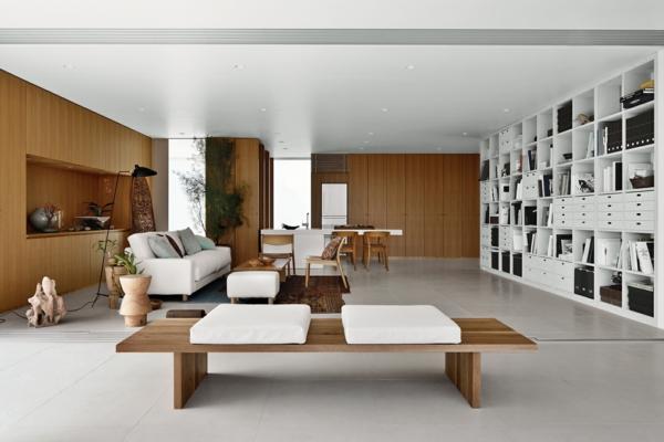 shigeru ban innendesign wohnzimmer ausstattung
