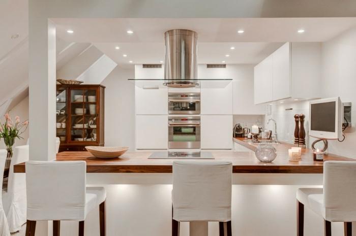 skandinavisch wohnen penthousewohnung stockholm küchenideen kücheninsel