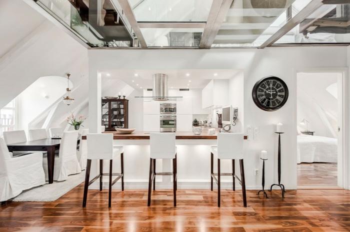 skandinavisch wohnen penthousewohnung stockholm küchenideen