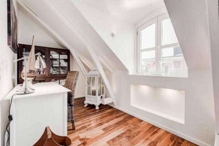 skandinavisch wohnen penthousewohnung stockholm kleines arbeitszimmer