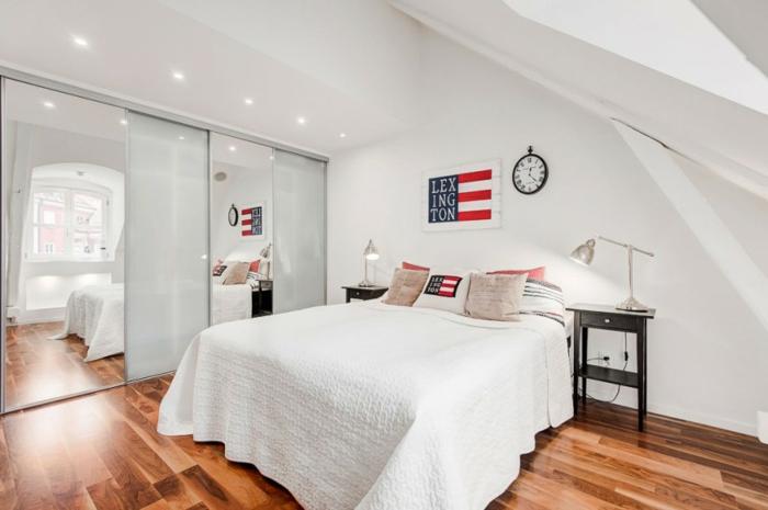 skandinavisch wohnen penthousewohnung stockholm schlafzimmer holzboden