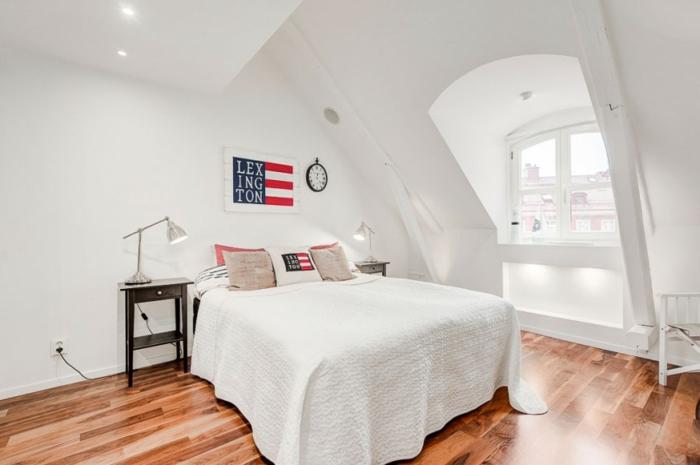 skandinavisch wohnen penthousewohnung stockholm schlafzimmer